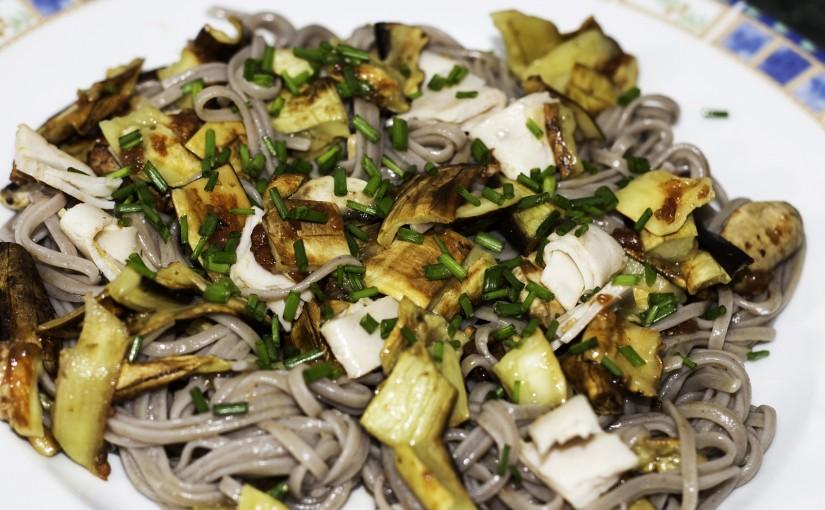 Paste de hrișcă și cartofi dulci cu legume coapte